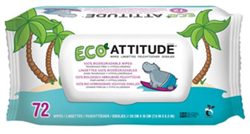 ATTITUDE 100% BIODEGRADABLE WIPES