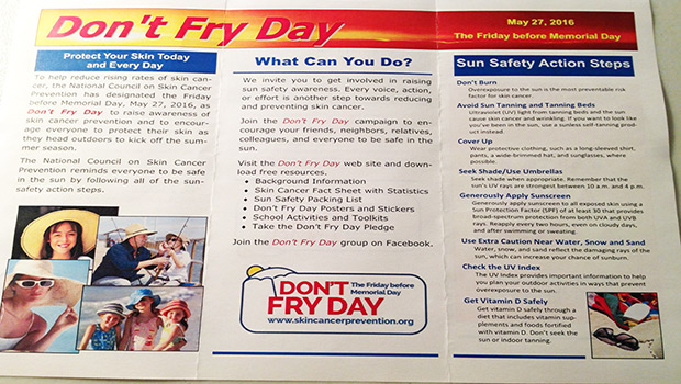 DONT FRY DAY 2016