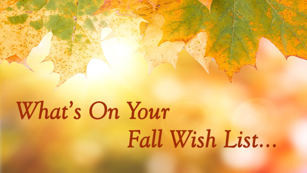 WHATS ON YOUR FALL WISHLIST