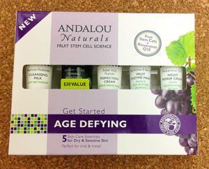 ANDALOU NATURALS AGE DEFYING SAMPLE BOX FRONT IMAGE