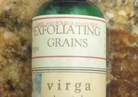 VIRGA BOTANICALS EXFOLIATING GRAINS FRONT LABEL